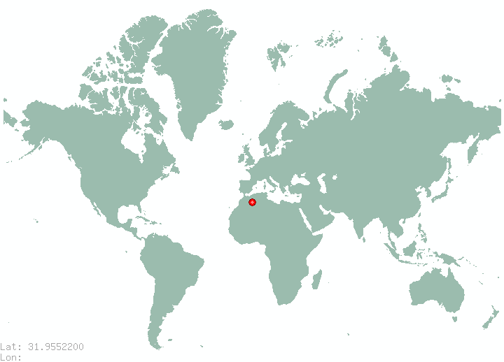 Amman in world map